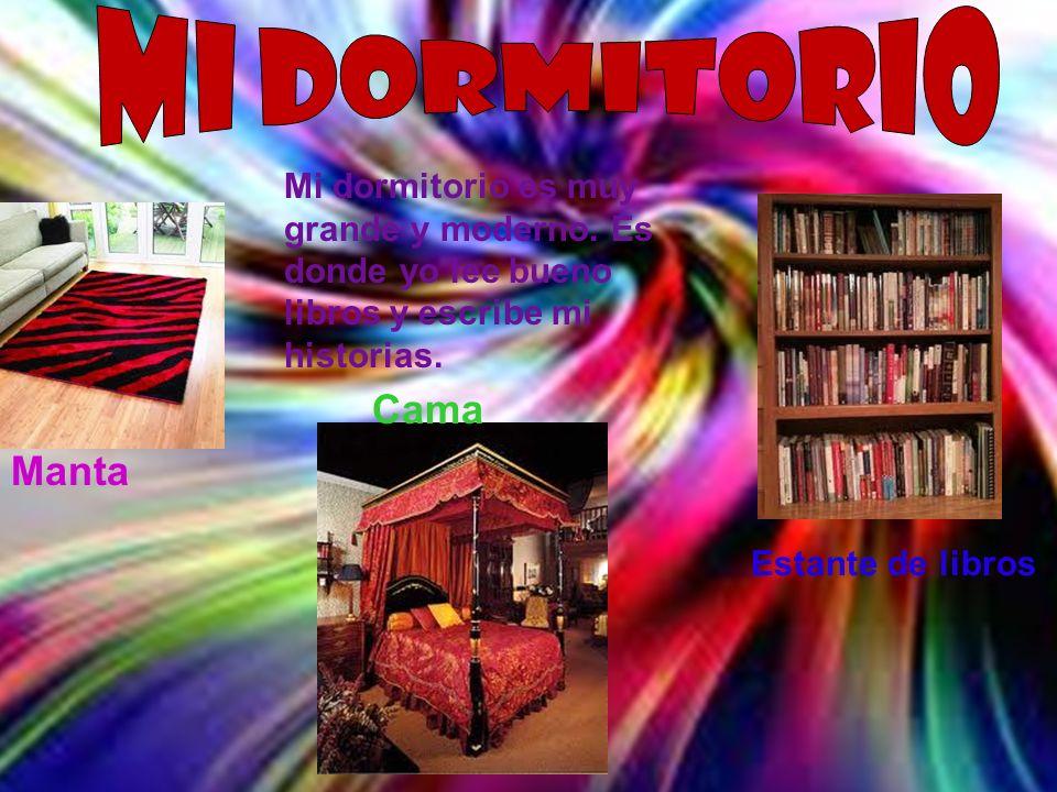Manta Cama Estante de libros Mi dormitorio es muy grande y moderno. Es donde yo lee bueno libros y escribe mi historias.