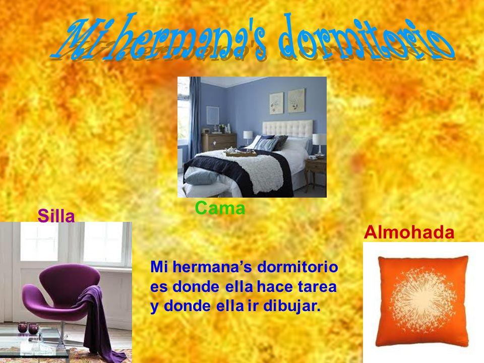 Silla Almohada Cama Mi hermanas dormitorio es donde ella hace tarea y donde ella ir dibujar.