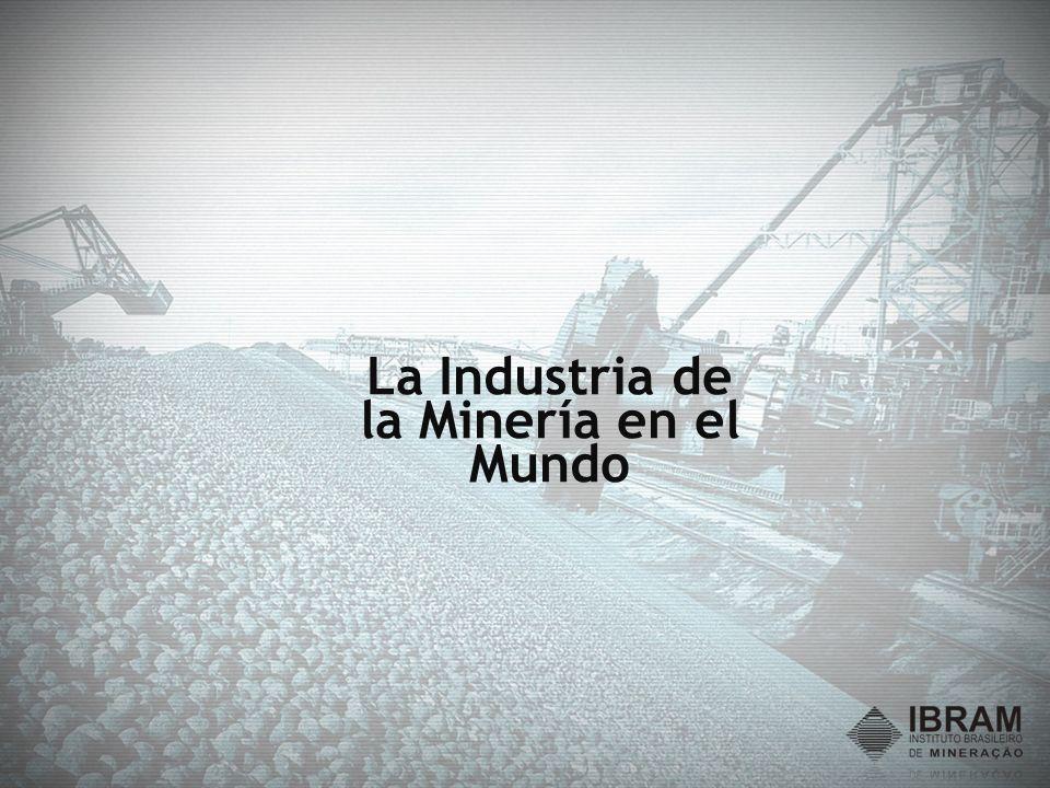 A Industria de la Mineración en Brasil y su importancia para el Saldo Comercial Brasileño El saldo (exportaciones - importaciones) del Sector de Minería en 2008 fue de US$ 13 mil millones representando 53% del Saldo Total de Comercio Exterior del País, que alcanzó US$ 24,7 mil millones.