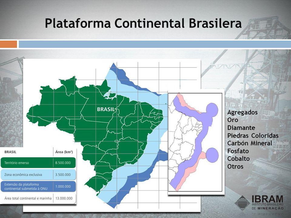 Plataforma Continental Brasilera Agregados Oro Diamante Piedras Coloridas Carbón Mineral Fosfato Cobalto Otros