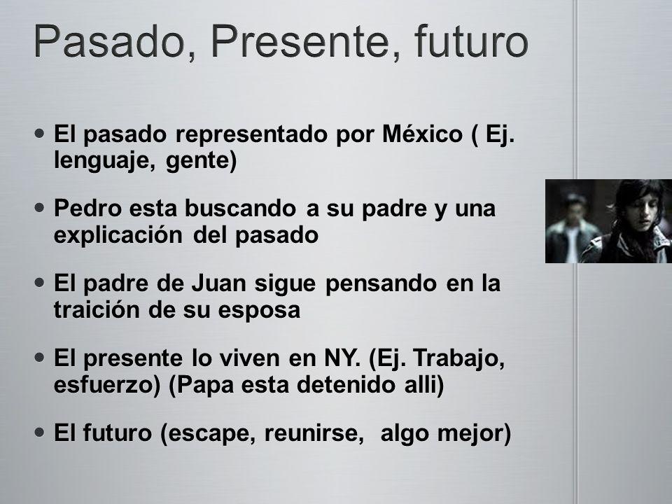 El pasado representado por México ( Ej. lenguaje, gente) El pasado representado por México ( Ej.