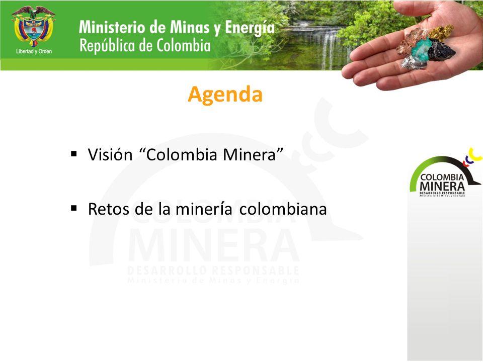 Agenda Visión Colombia Minera Retos de la miner í a colombiana
