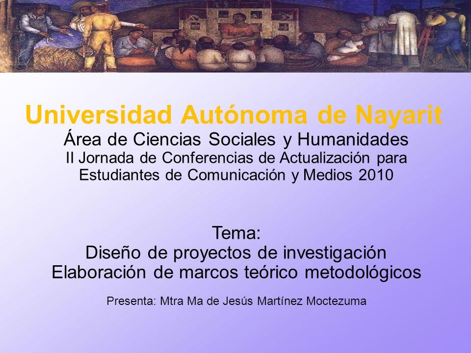 Área de Ciencias Sociales y Humanidades II Jornada de Conferencias de Actualización para Estudiantes de Comunicación y Medios 2010 Tema: Diseño de pro