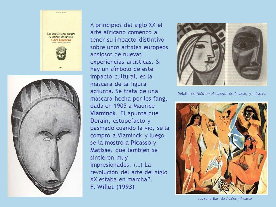 A principios del siglo XX el arte africano comenzó a tener su impacto distintivo sobre unos artistas europeos ansiosos de nuevas experiencias artístic