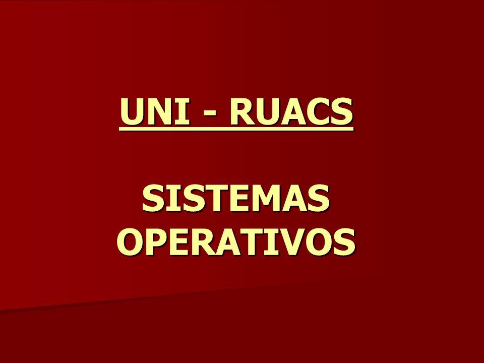 UNI - RUACS SISTEMAS OPERATIVOS