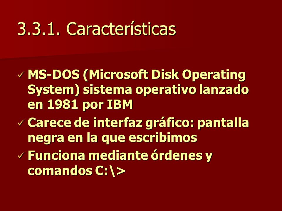 "La presentaci�n ""UNI - RUACS SISTEMAS OPERATIVOS. �ndice 3.1. El ..."