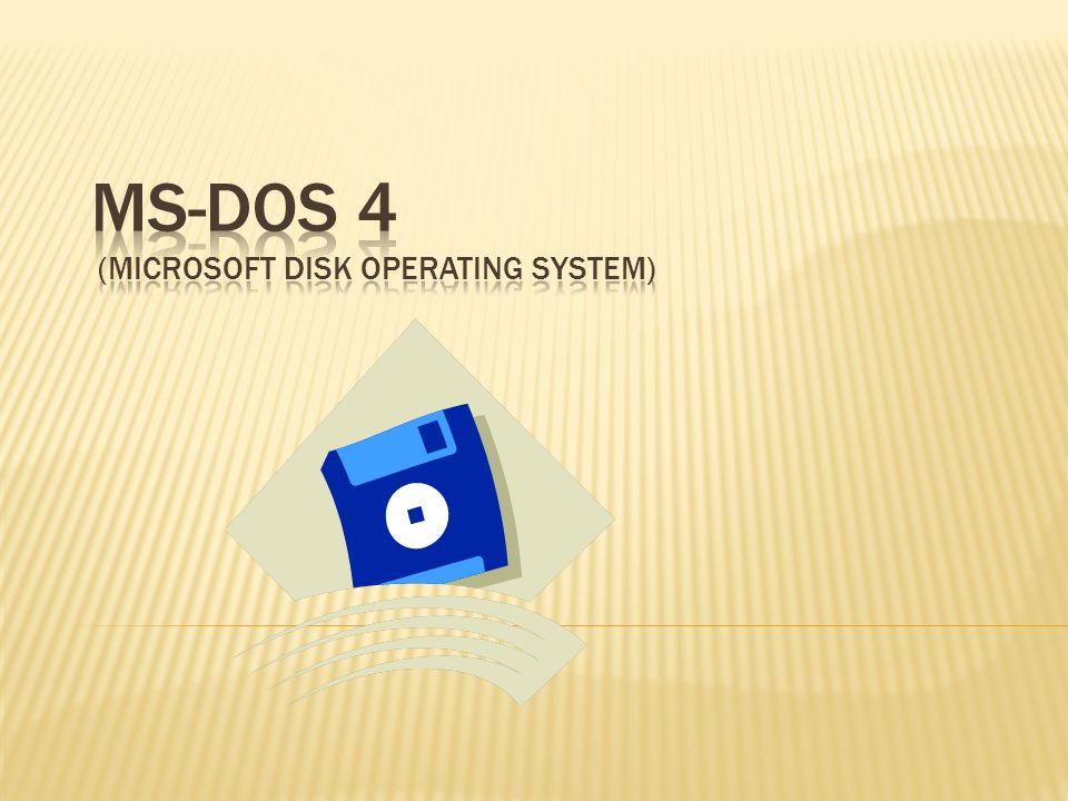 La historia en 1981, con la compra por parte de Microsoft, de un sistema operativo llamado QDOS, que tras hacer unas pocas modificaciones, se hace en la primera versión del sistema operativo de Microsoft MS-DOS 1.0 (MicroSoft Disk Operating System)