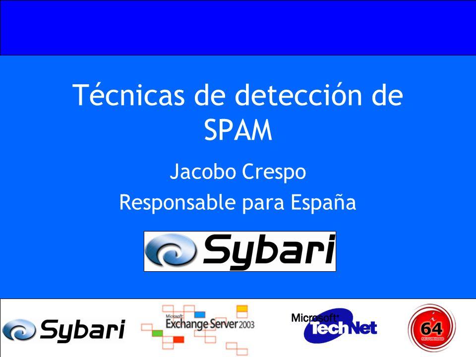 Técnicas de detección de SPAM Jacobo Crespo Responsable para España