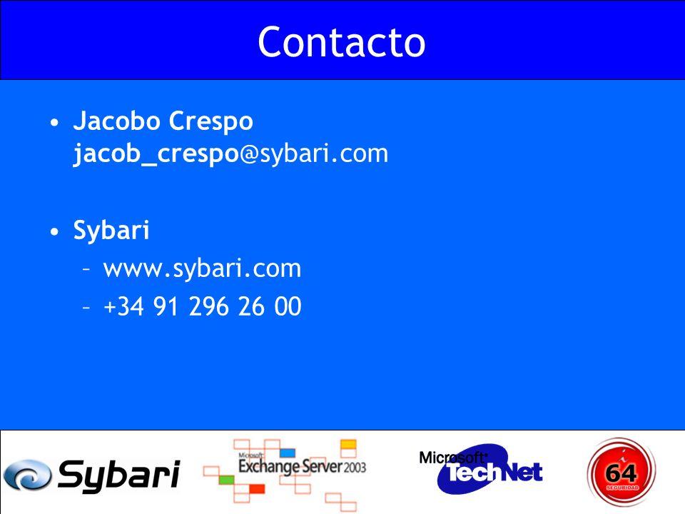 Contacto Jacobo Crespo jacob_crespo@sybari.com Sybari –www.sybari.com –+34 91 296 26 00