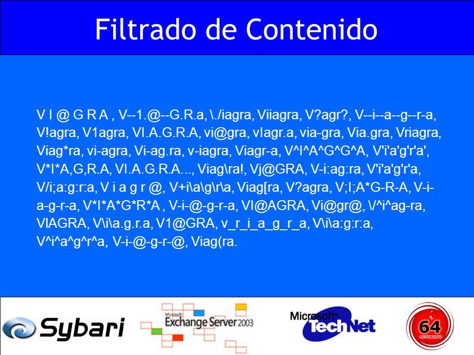Filtrado de Contenido V I @ G R A, V--1.@--G.R.a, \./iagra, Viiagra, V?agr?, V--i--a--g--r-a, V!agra, V1agra, VI.A.G.R.A, vi@gra, vIagr.a, via-gra, Vi