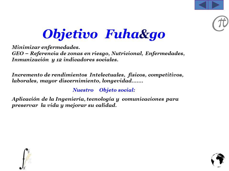 Objetivo Fuha&go Minimizar enfermedades. GEO – Referencia de zonas en riesgo, Nutricional, Enfermedades, Inmunización y 12 indicadores sociales. Incre