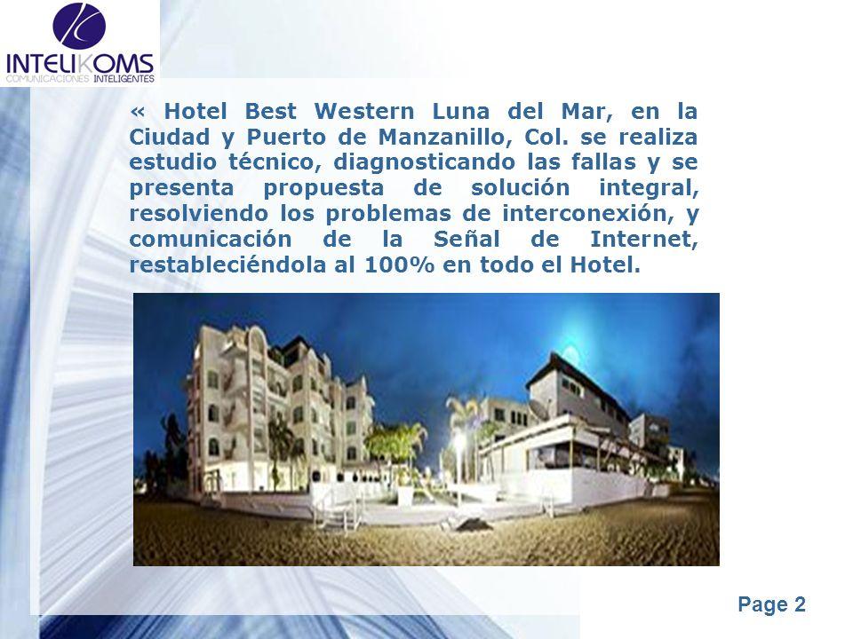 Powerpoint Templates Page 2 « Hotel Best Western Luna del Mar, en la Ciudad y Puerto de Manzanillo, Col. se realiza estudio técnico, diagnosticando la