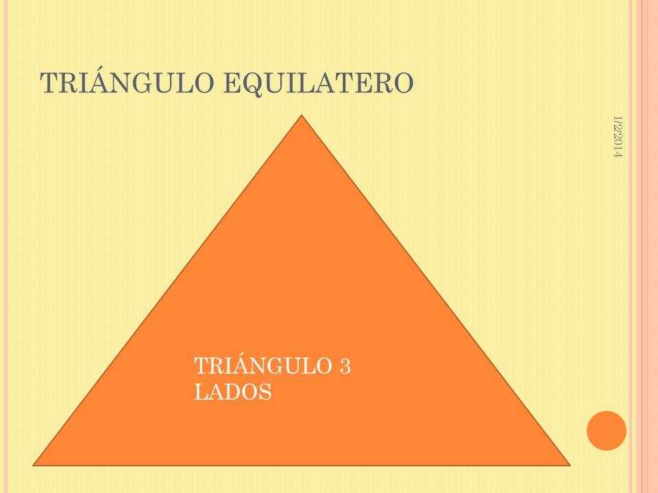 1/2/2014 TRIÁNGULO EQUILATERO TRIÁNGULO 3 LADOS