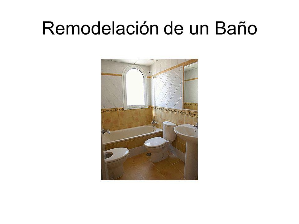 Remodelación de un Baño