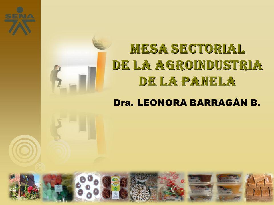 Mesa sectorial de la agroindustria de la panela Dra. LEONORA BARRAGÁN B.