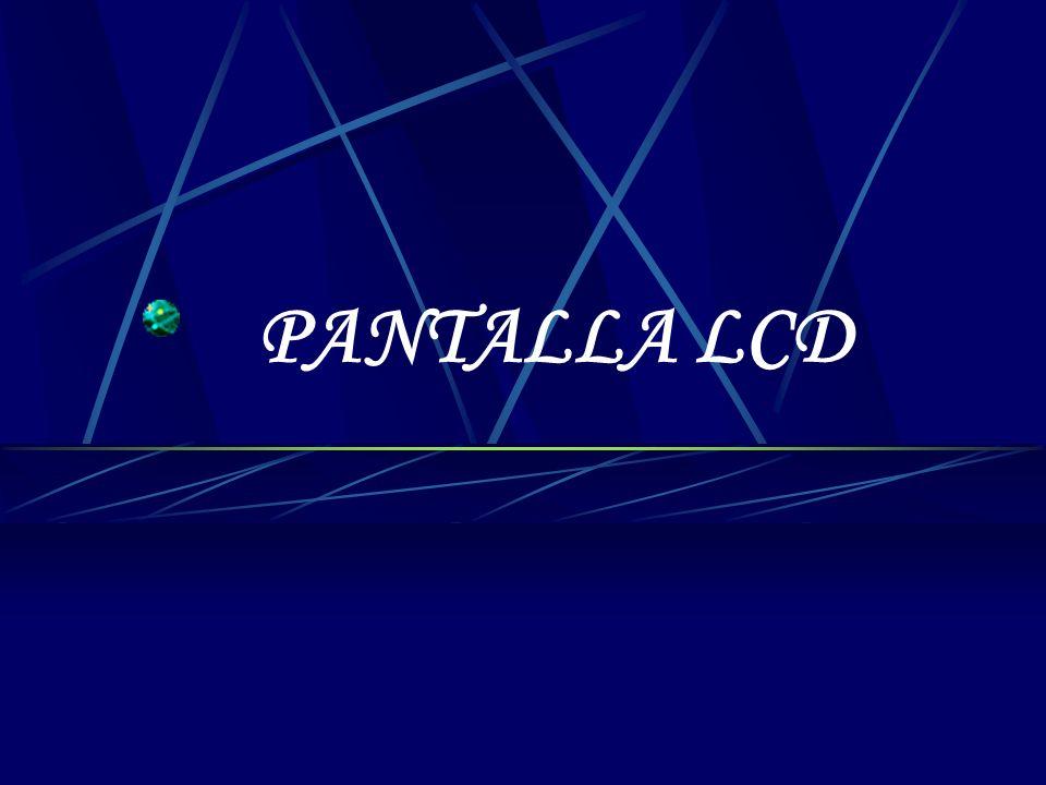 PRESENTACIÓN DESCRIPCIÓN DE LA PANTALLA LCD FUNCIONAMIENTO INSTRUCCIONES PROGRAMACIÓN DE CARACTERES ESPECIALES JUEGO DE CARACTERES INICIALIZACIÓN