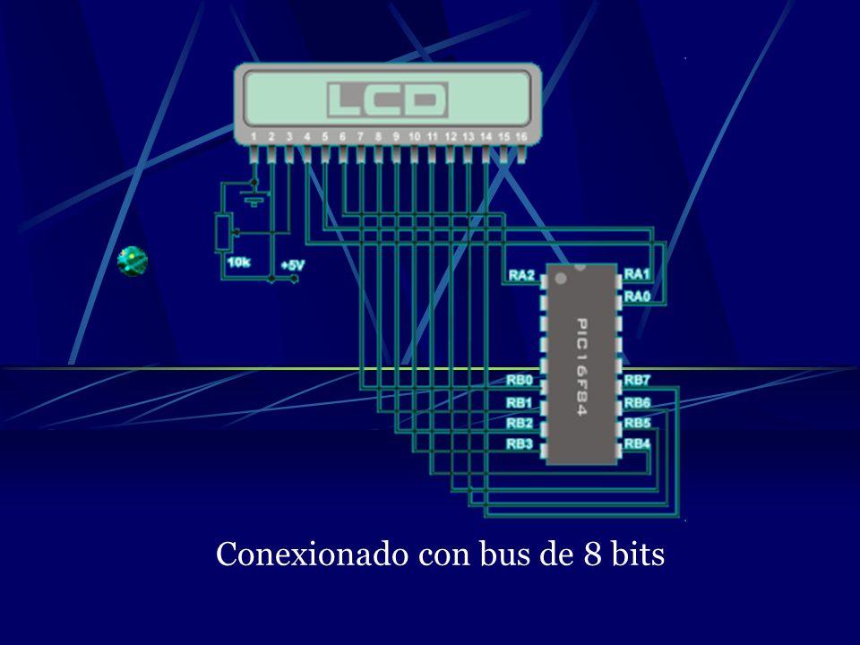 Conexionado con bus de 8 bits