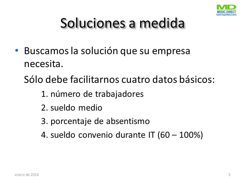 Soluciones a medida Buscamos la solución que su empresa necesita.
