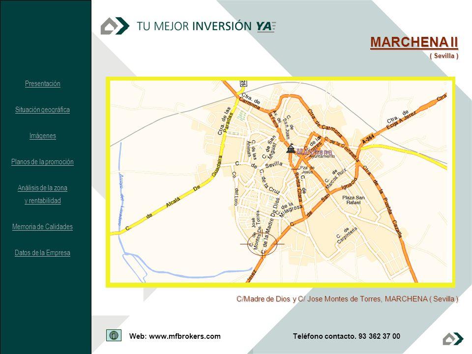 MARCHENA II ( Sevilla ) C/Madre de Dios y C/ Jose Montes de Torres, MARCHENA ( Sevilla ) Presentación Situación geográfica Imágenes Planos de la promo