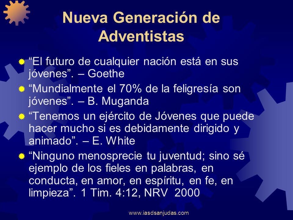 www.iasdsanjudas.com EL MINISTERIO JUVENIL EN LA IGLESIA Bernardo Rodríguez T. Director de Jóvenes - DIA