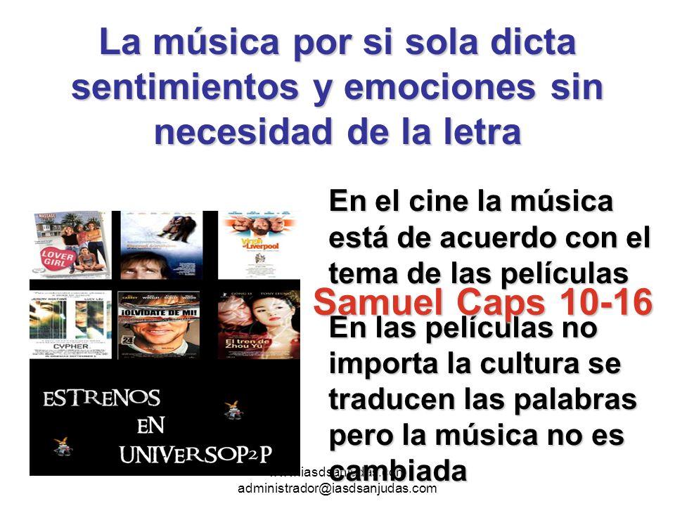 www.iasdsanjudas.com administrador@iasdsanjudas.com SECULARCRISTIANA SECULARCRISTIANA Hipnótica, daña la salud De doble sentido, usa palabras sensuales Solo busca entretener