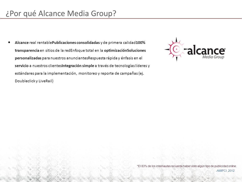 ¿Por qué Alcance Media Group? Alcance real rentablePublicaciones consolidadas y de primera calidad100% transparencia en sitios de la redEnfoque total