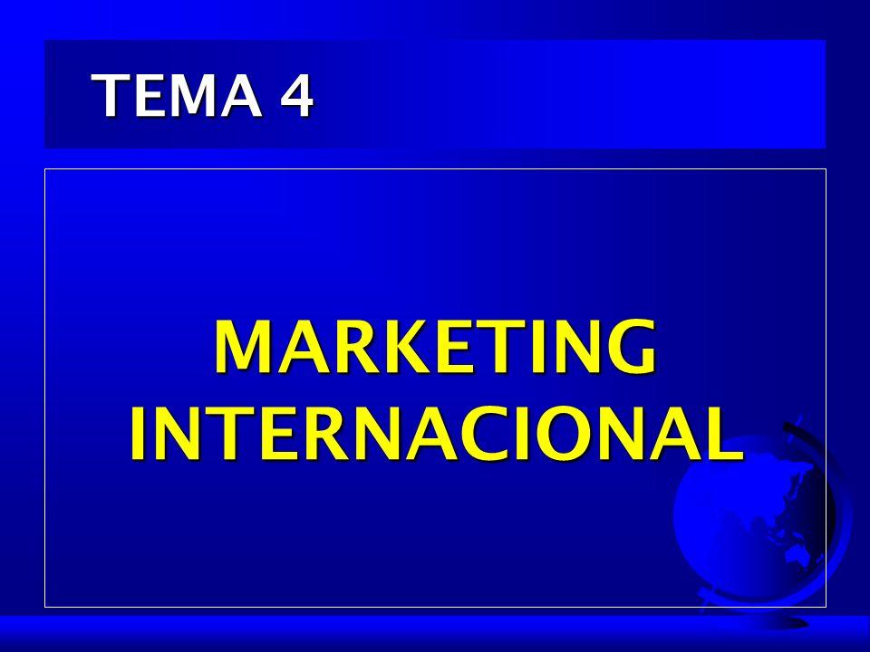 TEMA 4 TEMA 4 MARKETING INTERNACIONAL