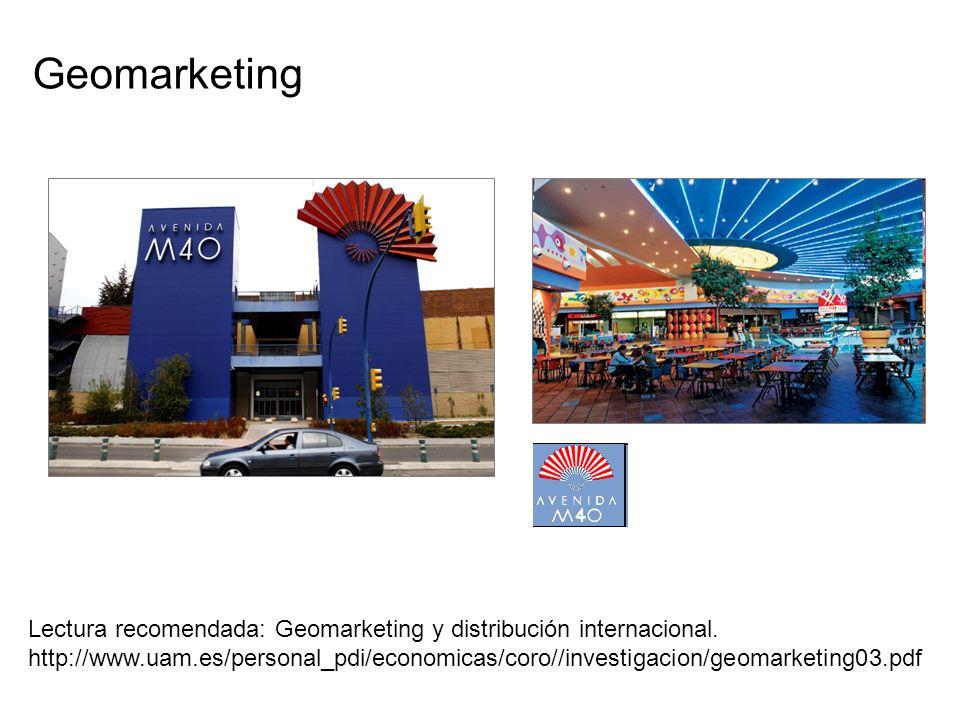 punto de partida Geomarketing Lectura recomendada: Geomarketing y distribución internacional. http://www.uam.es/personal_pdi/economicas/coro//investig