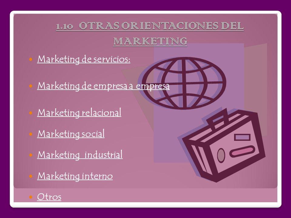 1.9 GESTION DE RELACIONES CON EL CLIENTE La principal función del marketing es crear relaciones rentables con los clientes. La gestión de relaciones c