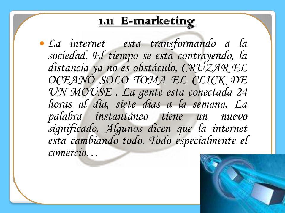 1.10 OTRAS ORIENTACIONES DEL MARKETING Marketing de servicios: Marketing de empresa a empresa Marketing relacional Marketing social Marketing industri