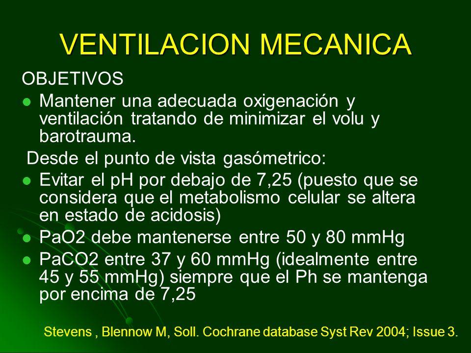 CPAP RECOMENDACIONN° En recién nacido pretérminos, con peso mayor de 1500gr, con enfermedad de membrana hialina, el uso de CPAP disminuye la falla res
