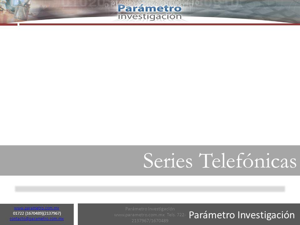 Parámetro Investigación www.parametro.com.mx 01722 (1670489)(2137967) contacto@parametro.com.mx contacto@parametro.com.mx 16 El combate al narcotráfico y la delincuencia ha sido una de los principales del sexenio del Presidente Calderón.