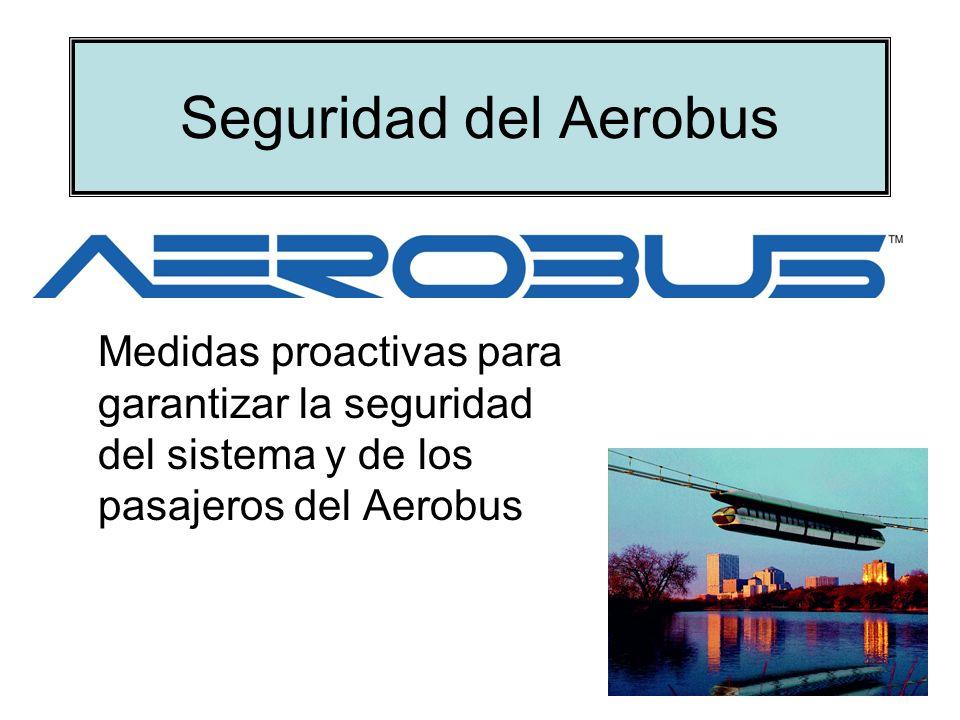 Seguridad inherente al sistema Aerobus El sistema de transporte colectivo Aerobus es un sistema de transporte de pasajeros de seguridad inherente.