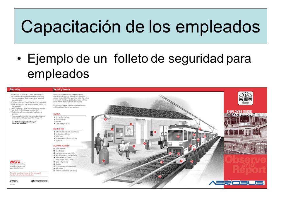 Capacitación de los empleados Ejemplo de un folleto de seguridad para empleados