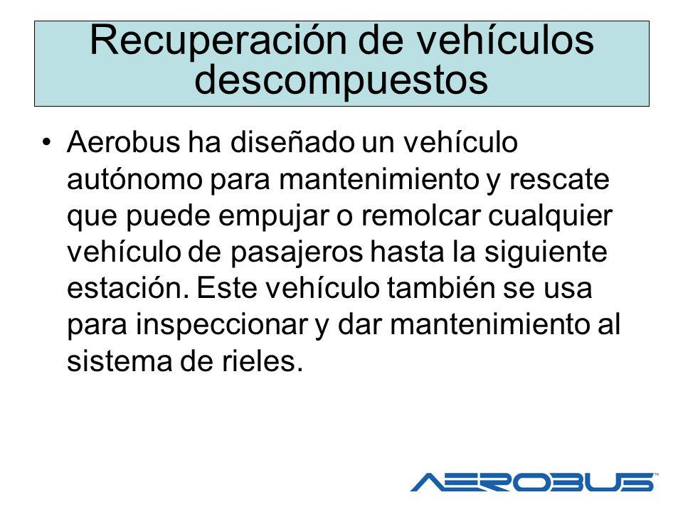 Evacuación de pasajeros Los vehículos de Aerobus están diseñados con las facilidades de evacuación de pasajeros disponibles.