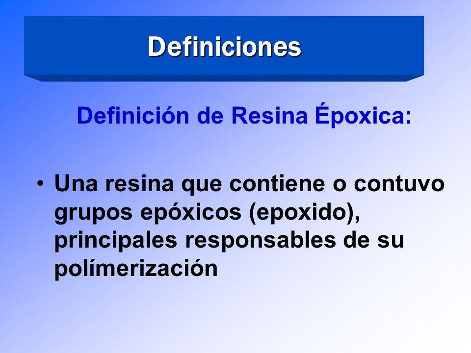 Terminología de Epóxicos