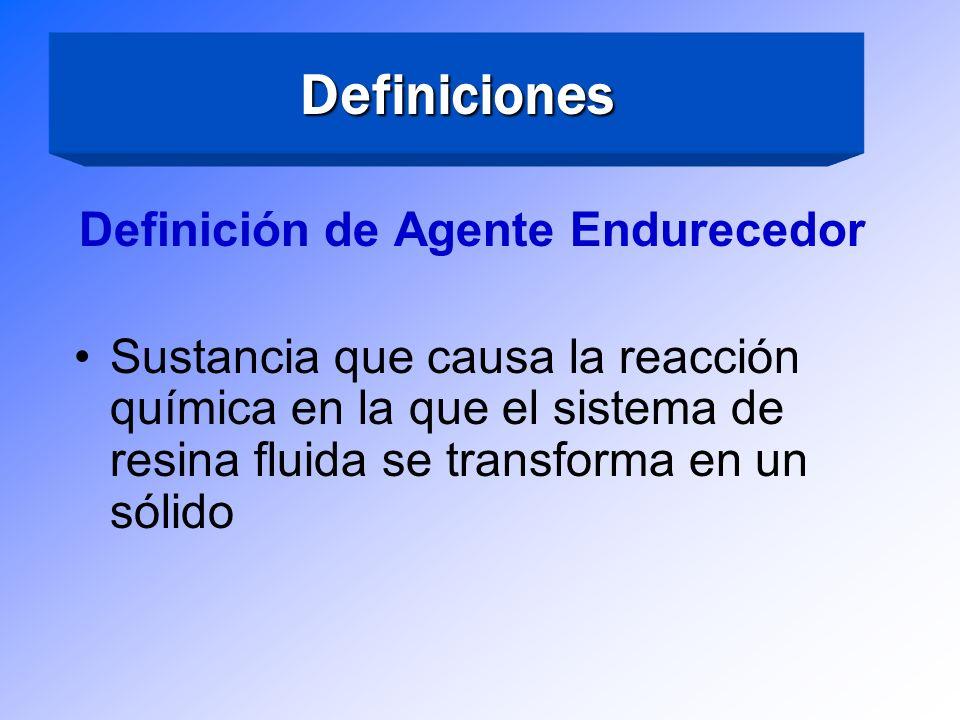 Definiciones Definición de Resina Époxica: Una resina que contiene o contuvo grupos epóxicos (epoxido), principales responsables de su polímerización