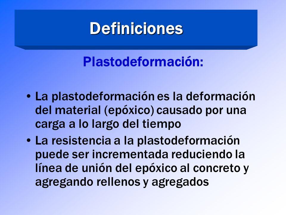 Definiciones Viscosidad Alta Viscosidad (geles)- Parches y anclajes Verticales y aéreos Viscosidad Media – Anclajes y uniones en general Baja Viscosid