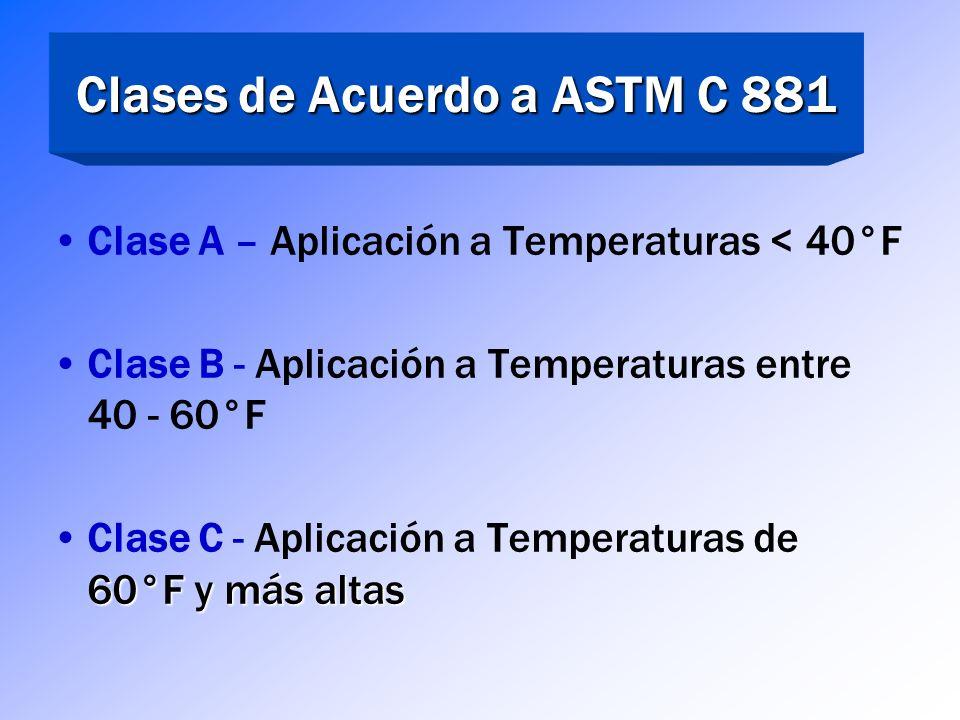Grados de acuerdo a ASTM C 881 Grado 1 – Baja viscosidad, Agua a Aceite de Motor, Usados para reparación de grietas por inyección/gravedad, morteros (