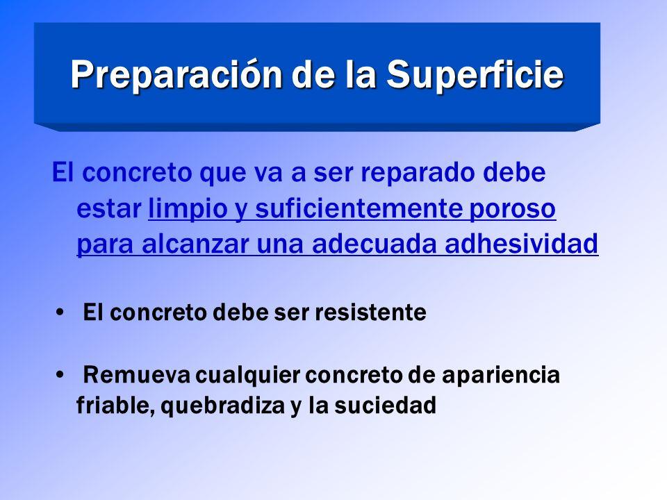 Preparación de la Superficie Preparación de la Superficie