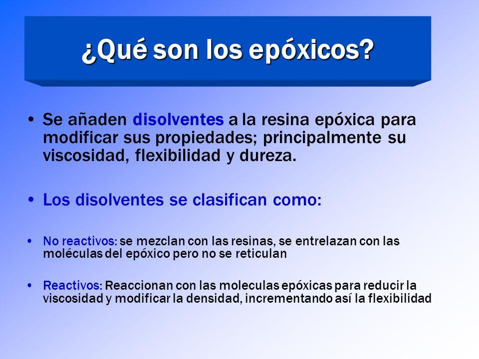 ¿Qué son los epóxicos? Cinco tipos comunes de agentes endurecedores de epóxicos: Poliaminas alifáticas – proporcionan alta reticulación, buena resiste