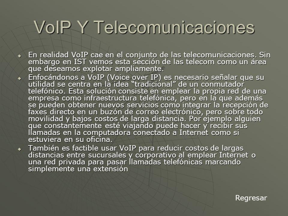 VoIP Y Telecomunicaciones En realidad VoIP cae en el conjunto de las telecomunicaciones.