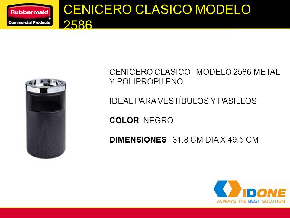 CENICERO CLASICO MODELO 2586 CENICERO CLASICO MODELO 2586 METAL Y POLIPROPILENO IDEAL PARA VESTÍBULOS Y PASILLOS COLOR NEGRO DIMENSIONES 31.8 CM DIA X