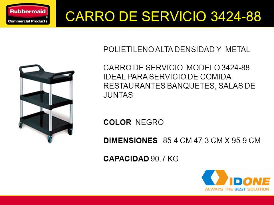 CARRO DE SERVICIO 3424-88 POLIETILENO ALTA DENSIDAD Y METAL CARRO DE SERVICIO MODELO 3424-88 IDEAL PARA SERVICIO DE COMIDA RESTAURANTES BANQUETES, SAL