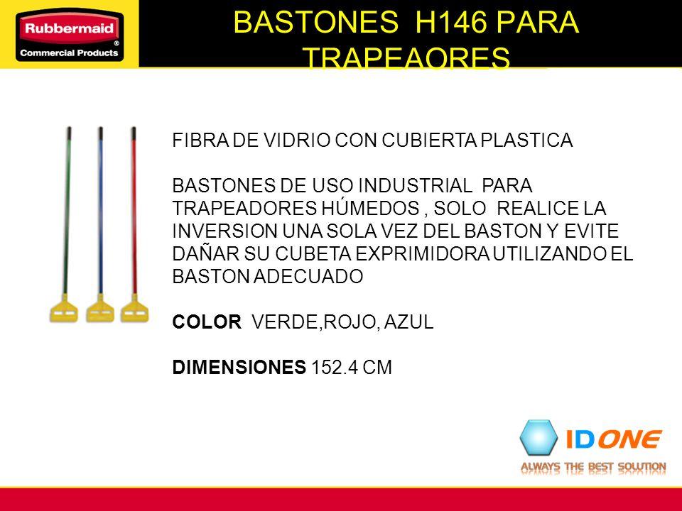 BASTONES H146 PARA TRAPEAORES FIBRA DE VIDRIO CON CUBIERTA PLASTICA BASTONES DE USO INDUSTRIAL PARA TRAPEADORES HÚMEDOS, SOLO REALICE LA INVERSION UNA