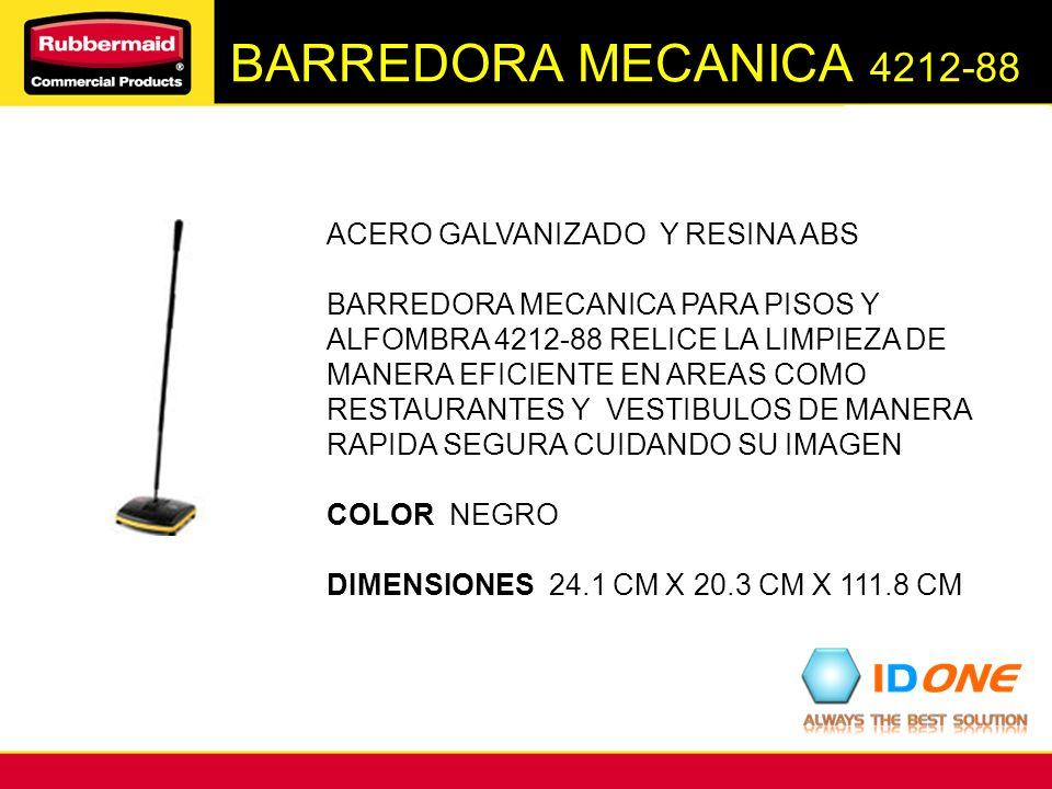 BARREDORA MECANICA 4212-88 ACERO GALVANIZADO Y RESINA ABS BARREDORA MECANICA PARA PISOS Y ALFOMBRA 4212-88 RELICE LA LIMPIEZA DE MANERA EFICIENTE EN A