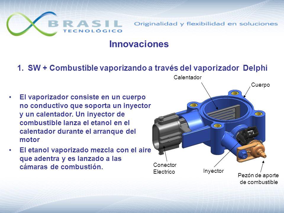 Inyector Calentador Conector Electrico Cuerpo Pezón de aporte de combustible El vaporizador consiste en un cuerpo no conductivo que soporta un inyecto