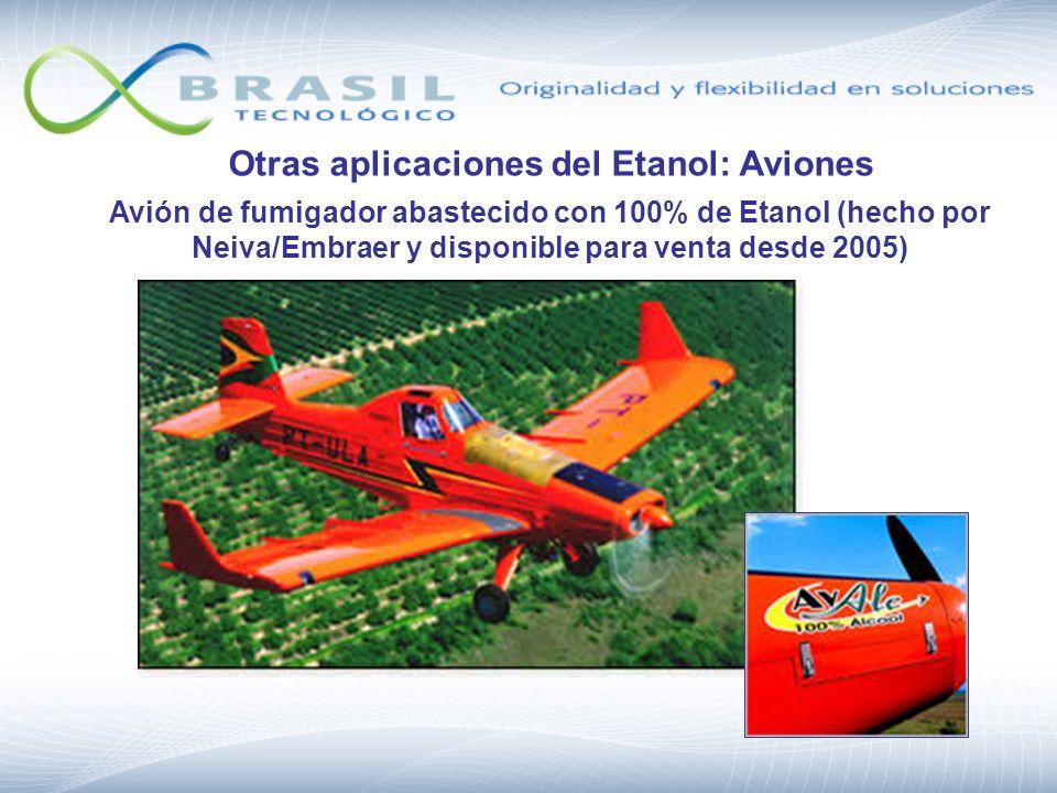 Otras aplicaciones del Etanol: Aviones Avión de fumigador abastecido con 100% de Etanol (hecho por Neiva/Embraer y disponible para venta desde 2005)
