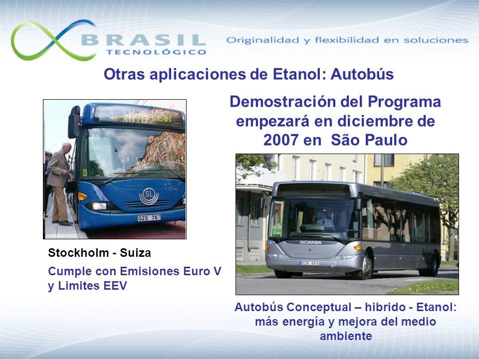Otras aplicaciones de Etanol: Autobús Autobús Conceptual – hibrido - Etanol: más energía y mejora del medio ambiente Demostración del Programa empezar