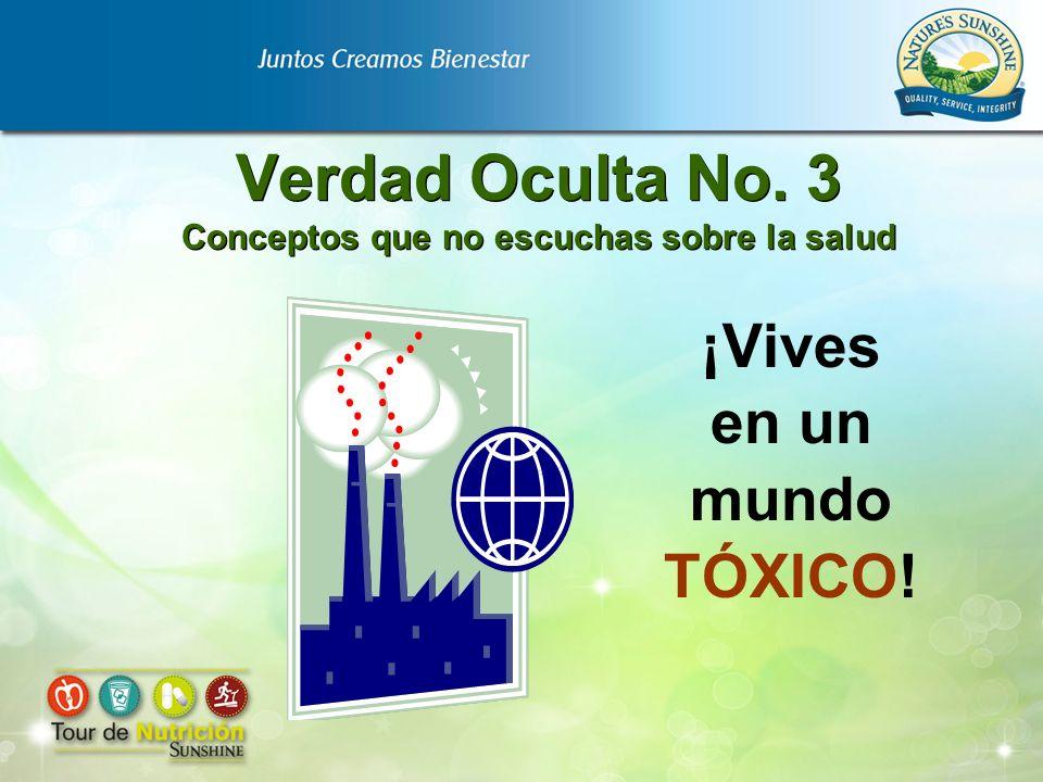 Verdad Oculta No. 3 Conceptos que no escuchas sobre la salud ¡Vives en un mundo TÓXICO!